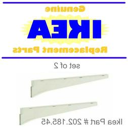 """NEW White 15 3//4/"""" Ikea ALGOT Clothes Rail For Brackets SET of 2"""