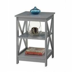 Convenience Concepts 203085GY Oxford end Table Gray - Gray N