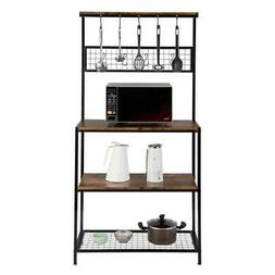 3 Tier Kitchen Bakers Rack Microwave Oven Stand Storage Cart