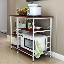 3-Tier Microwave Oven Cart Bakers Rack Kitchen Storage Shelv