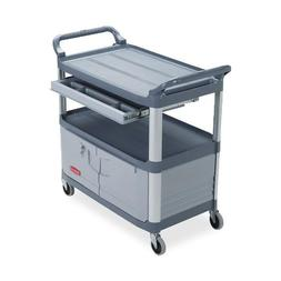 Rubbermaid 409400 Instrument Cart,w/ Full Size Drawer,40-3/5