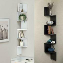 5 Tiers Wall Corner Artistic Shelf Furniture Floating Displa