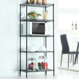 """60"""" 5 Layer Wire Shelving Rack Shelf Storage Unit Commercial"""