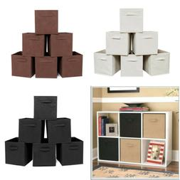 6X Collapsible Foldable Non-woven Cubby Cube Storage Bins Ba