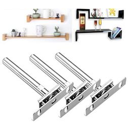 "8/16/24x 5"" Concealed Floating Hidden Wall Shelf Support Met"