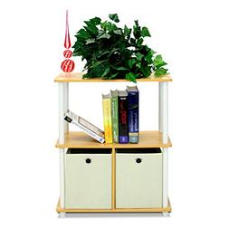 Furinno 99152BE/WH/IV 3-Tier Go Green Multipurpose Storage R
