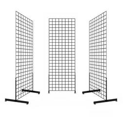 Display Grid Rack 6 ft Panel Metal Stand Retail Store Craft