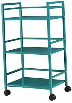 Ameriwood Home Marshall 3-Shelf Metal Rolling Utility Cart,