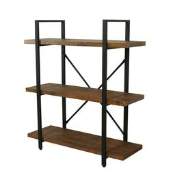 Bookcases Furniture Shelves 3 Tier Rustic Pipe Shelving Unit