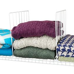 Evelots Coated Wire Closet Shelf Dividers, Clothes Organizer