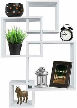 Greenco Decorative 4 Cube Intersecting Wall Mounted Floating