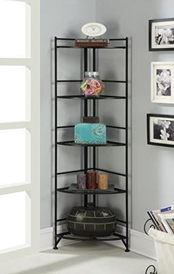 Designs2Go 5 Tier Folding Metal Corner Shelf