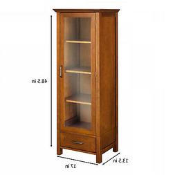 Elegant Home Fashions ELG-543 Avery Linen Cabinet with 1 Doo
