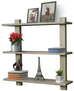Sorbus Floating Shelf, Asymmetric Square Wall Shelf, Decorat