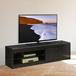 Furinno FVR Entertainment Center with 2 Doors and Glass Shel