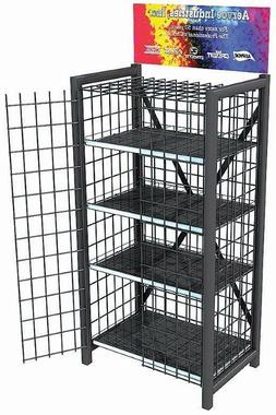 Heavy Duty Retail Metal Display Cage  - 4 Shelves #8704