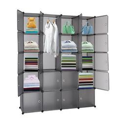 Home Use 20 Cube Organizer Stackable Plastic Cube Storage Sh