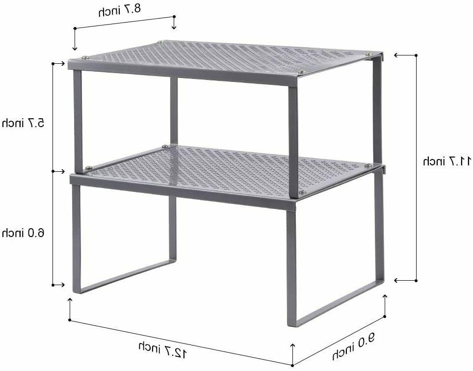 2 pieces cabinet and counter shelf stackable
