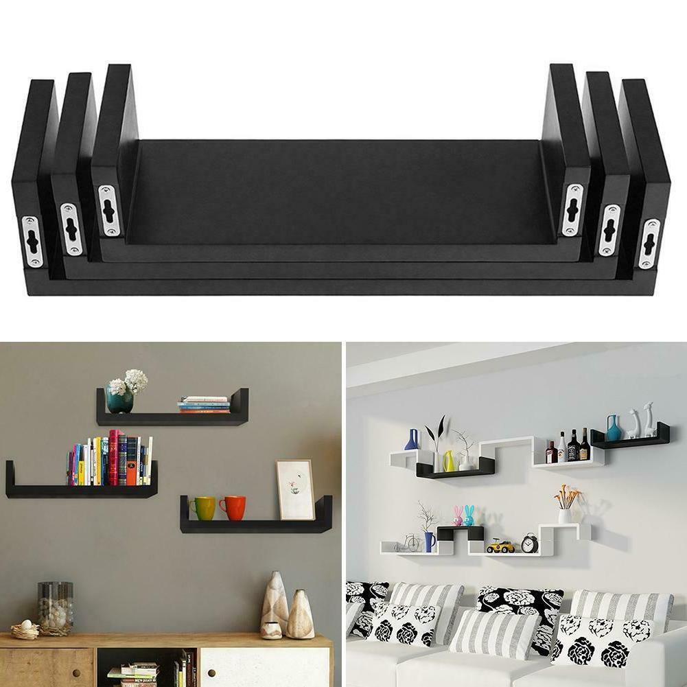 3pcs Floating Shelves Bookshelf Wall Mount Shelf Display Rac