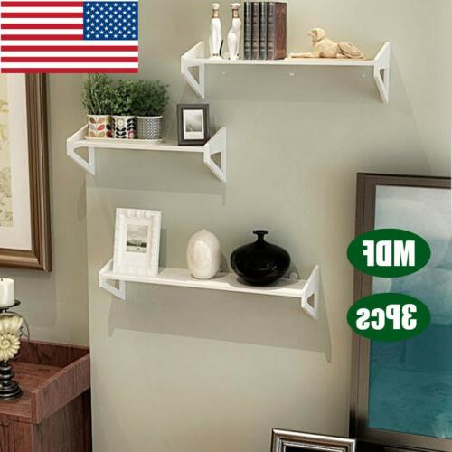 3pcs mdf wall shelf floating ledge shelves