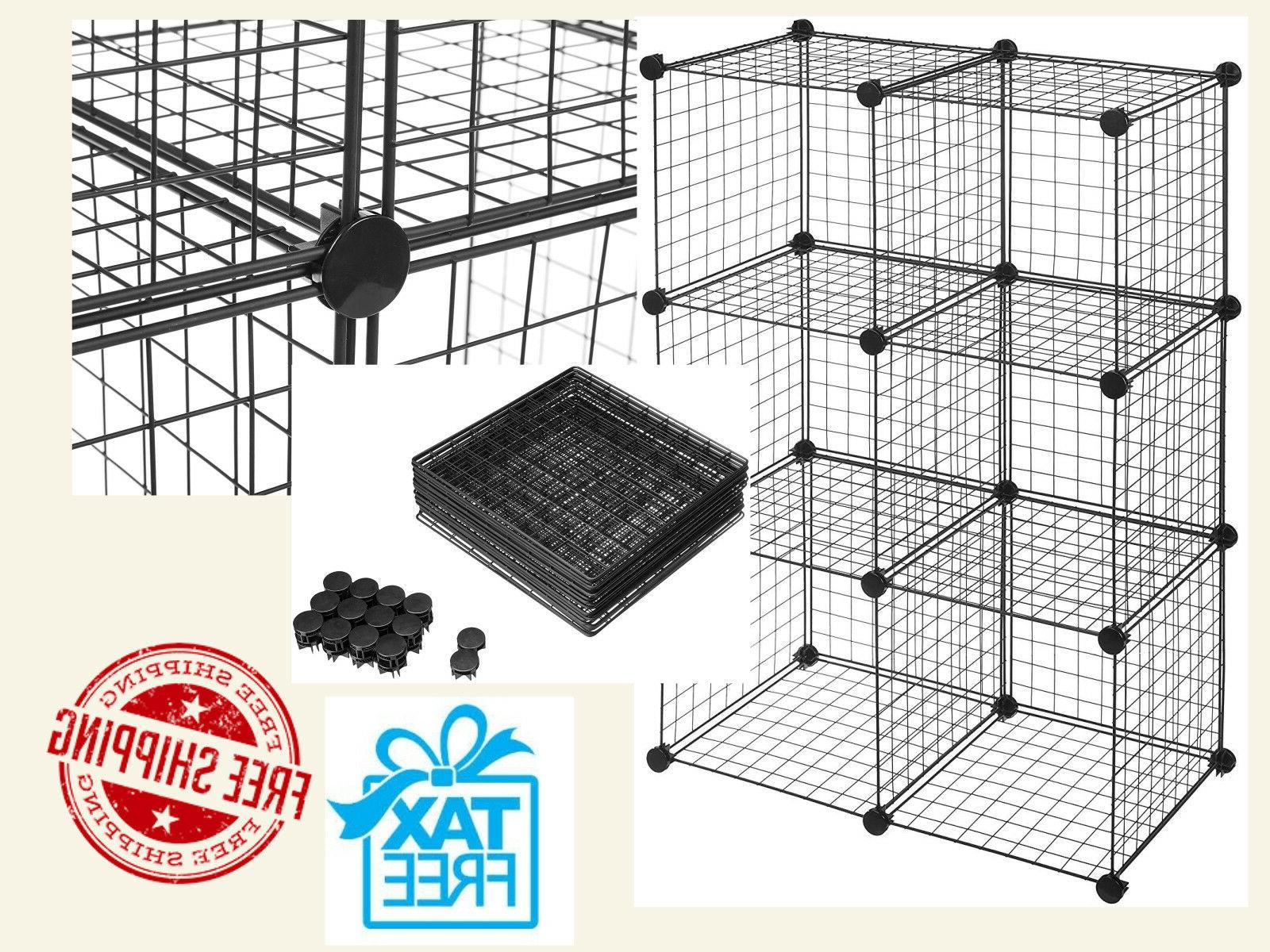 6 cube wire storage shelves