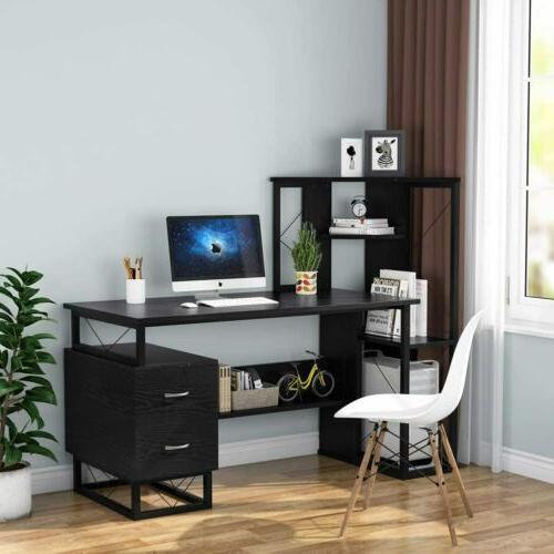 Computer Corner Tower Drawers Office