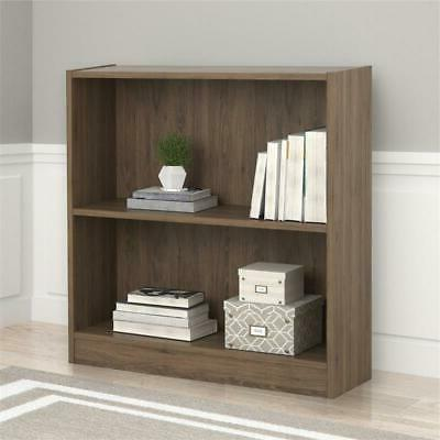 hayden 2 shelf bookcase rustic oak
