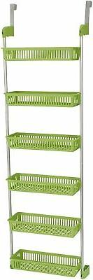 Household Essentials 6-Tier Basket Over-The-Door Organizer,