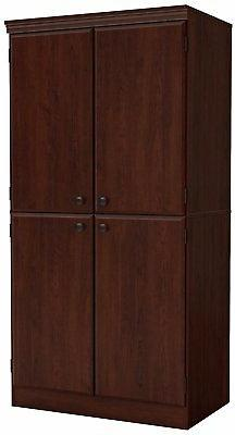 South Shore 7246971 Tall 4-Door Storage Cabinet with Adjusta