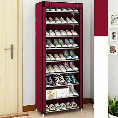 New 10 Tier 30 Pairs Cabinet with Cover Storage