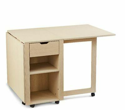 Portable Office Desk Table On Wheels With Crafting Hobby Sto