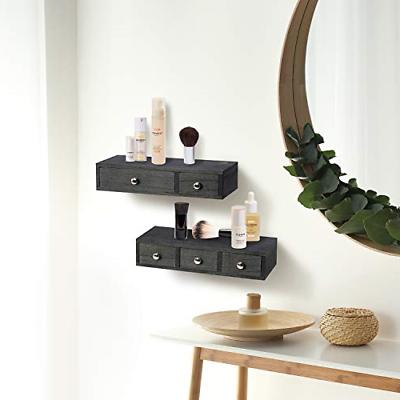 Set 2 Floating Shelf Wall Rustic Wood Display