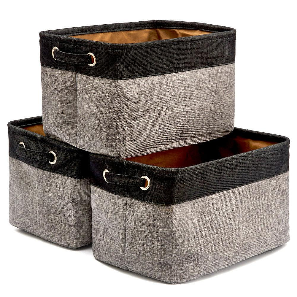 set of 3 collapsible large cube fabric