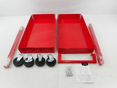 steel 2 shelf multipurpose tub utility supply