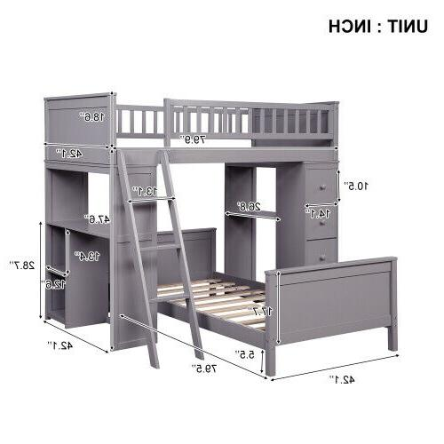Twin Over with Drawers Simple Kids