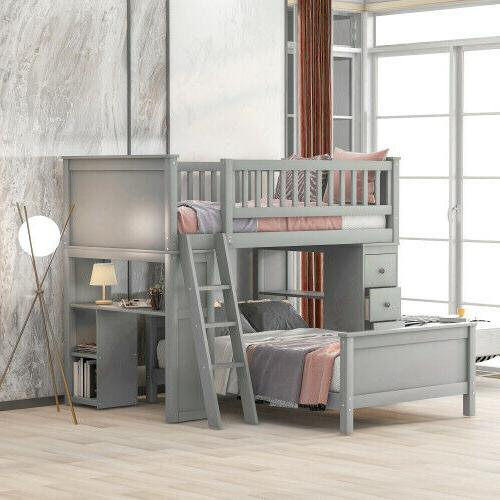 twin over twin bed with drawers