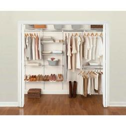 NEW Rubbermaid FastTrack Wire Closet Kit Adjustable Shelves