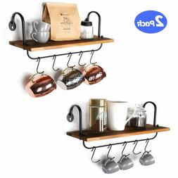 O-KIS Wall Floating Shelves For Kitchen Bathroom Coffee Nook