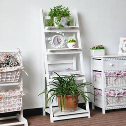 4 Tier Ladder Shelf Display Unit Home Bookcase Stand Plant F