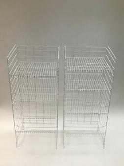Retail Display Racks - White Metal with 4 Adjustable Shelves