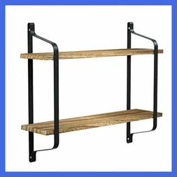 Rustic Floating Shelves Wall Mounted Industrial For Pantry L