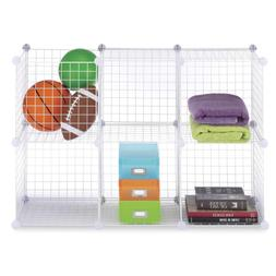 Set of 6 High Quality Storage Cubes - Stackable Interlocking