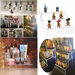 Stepped Acrylic Riser Rack Shelf Used As A Toy Figures Displ