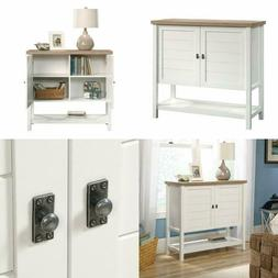 Storage Cabinet Furniture With Doors And Shelves Soft White