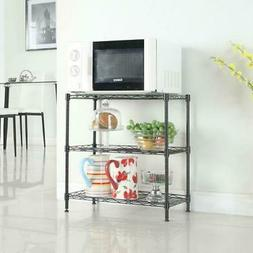 Storage Shelf 3-Tier Metal Wire Rack Adjustable Rack Shelves