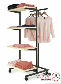 T Stand & Four Shelves Combination Retail Garment Display Ra