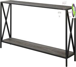 tucson console table weathered gray