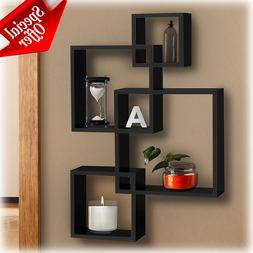Wall Cube Shelves Black Floating Modern Contemporary Storage