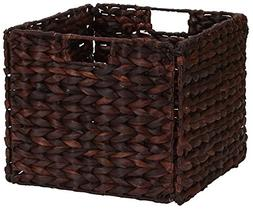 Household Essentials Wicker Open Storage Bin for Shelves, Da