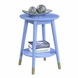Convenience Concepts Wilson Mid-Century Round End Table with